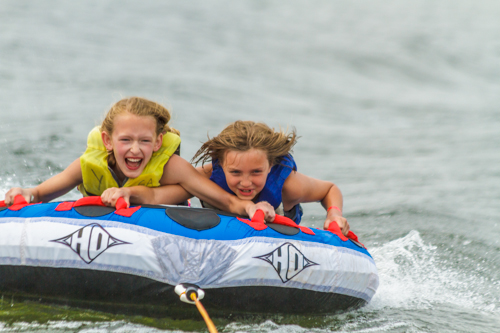 tubing at grace adventures summer camp