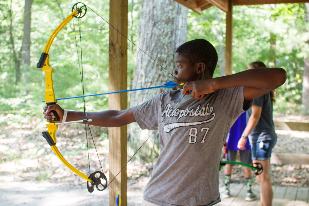 archery target sports at camp