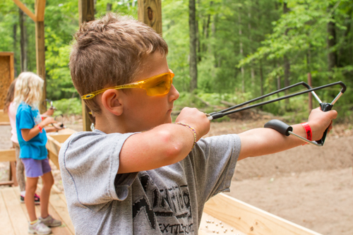 sling shot at summer camp