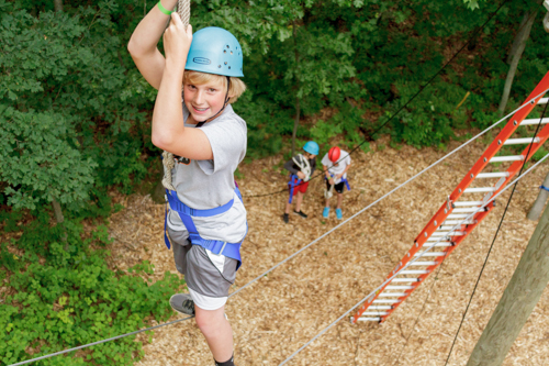 ropes course at grace adventures summer camp