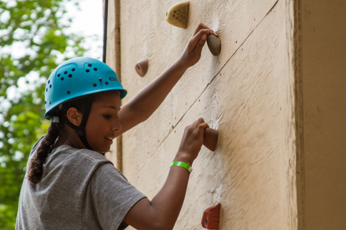 rock climbing at grace adventures summer camp