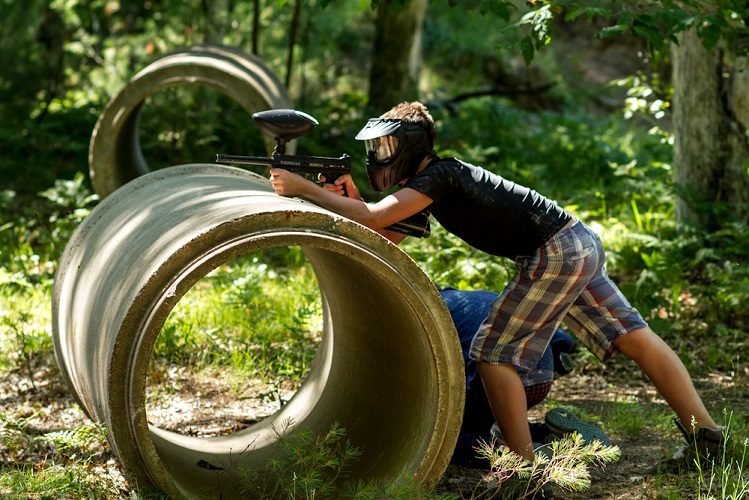 paintball at summer camp