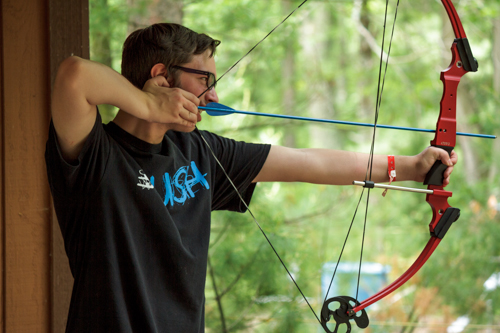 archery for high school camps at grace adventures